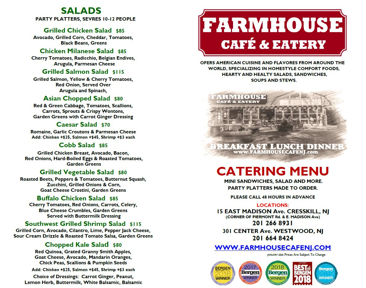 Catering Farmhouse Cafe Eatery