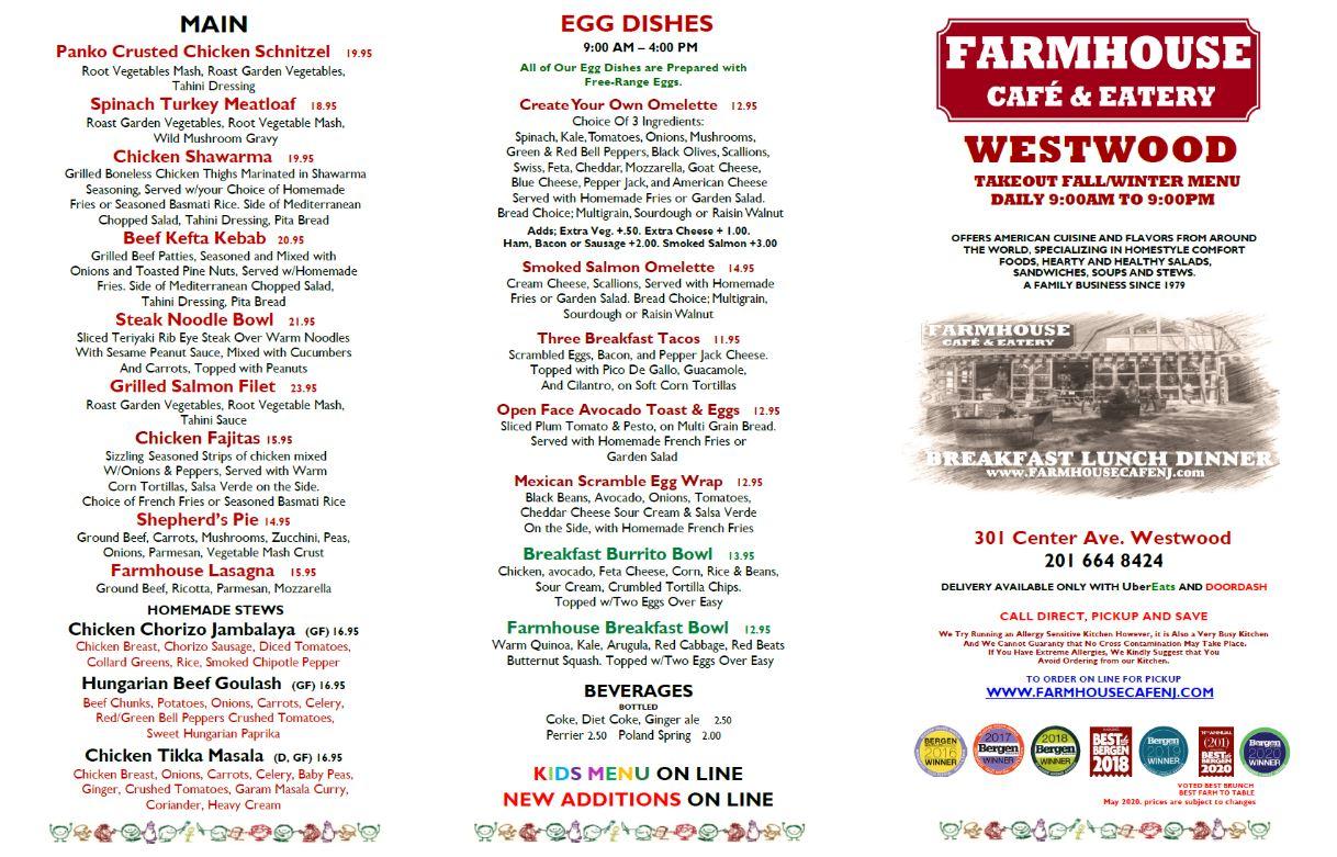 Takeout Westwood Farmhouse Cafe Eatery